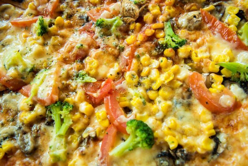 Vegetarisk Pizza royaltyfria foton