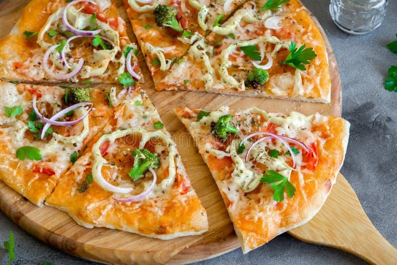 Vegetarisk Pizza fotografering för bildbyråer
