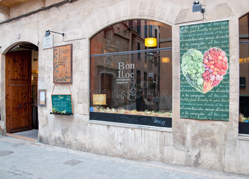 Vegetarisk restaurang Bon Lloc royaltyfria bilder