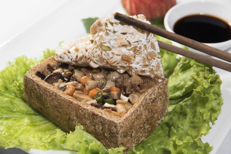 Vegetarisk tofu royaltyfria foton