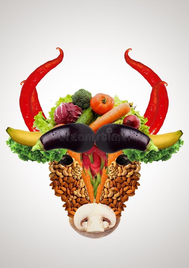vegetarisme Het vervangen van dierlijk voedselplant stock foto