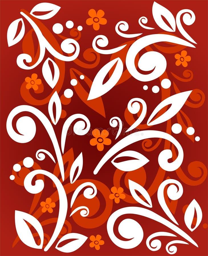 Vegetatief patroon vector illustratie