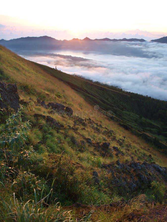Download Vegetation And Rocks On Mount Batur Stock Photo - Image of blue, trip: 13926340