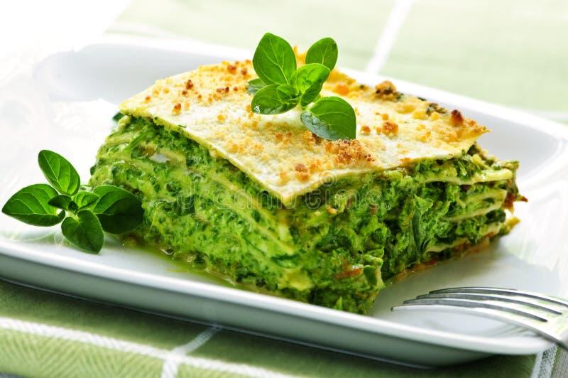 vegeterian lasagnaplatta royaltyfri fotografi