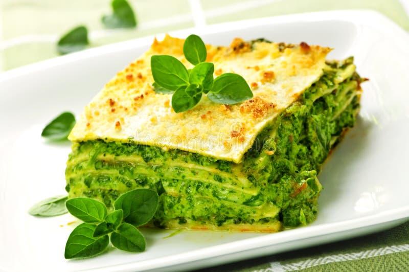 vegeterian lasagnaplatta arkivbilder