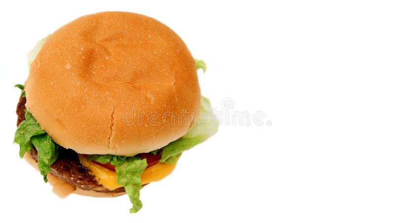 Veggie burger. Lop-sided veggie burger royalty free stock photo