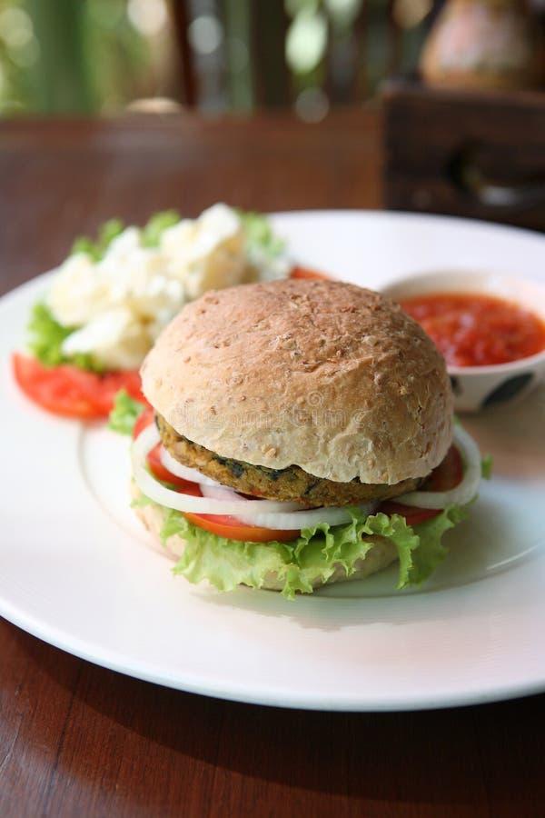 Veggie burger stock photo