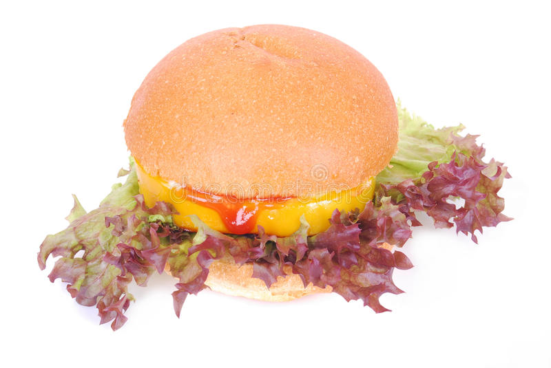 Download Burger on white stock image. Image of vegetables, home - 25370733