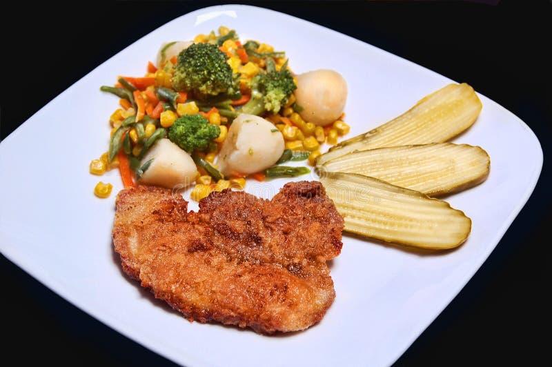 veggie de viande de repas image stock