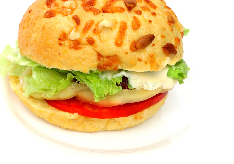 Veggie Hamburger stock fotografie