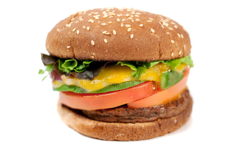 Veggie kaashamburger royalty-vrije stock foto's