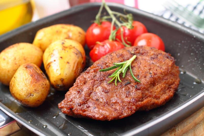 Veggie-lapje vlees stock foto's