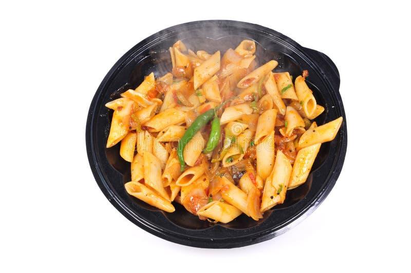 Veggie pasta stock photos