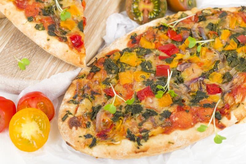 Veggie pizza royalty-vrije stock foto's