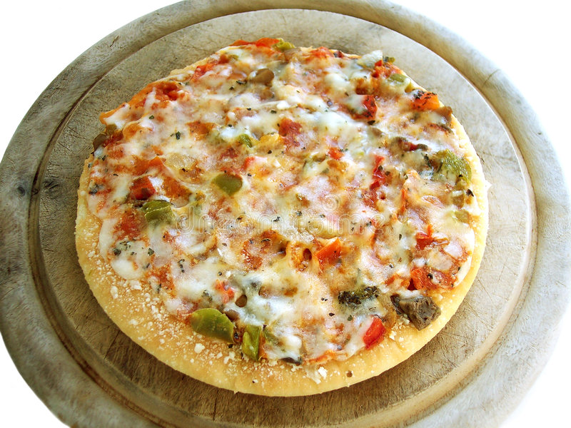 Veggiepizza 1 (Pfad eingeschlossen) stockbilder