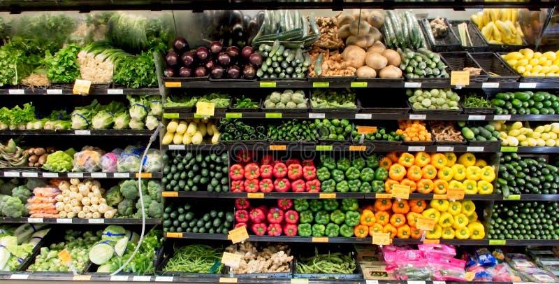 Veggies colorés sur l'affichage images stock