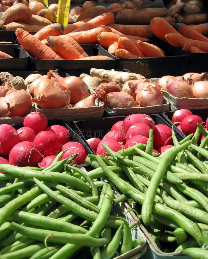 Veggies del mercato del coltivatore immagini stock libere da diritti