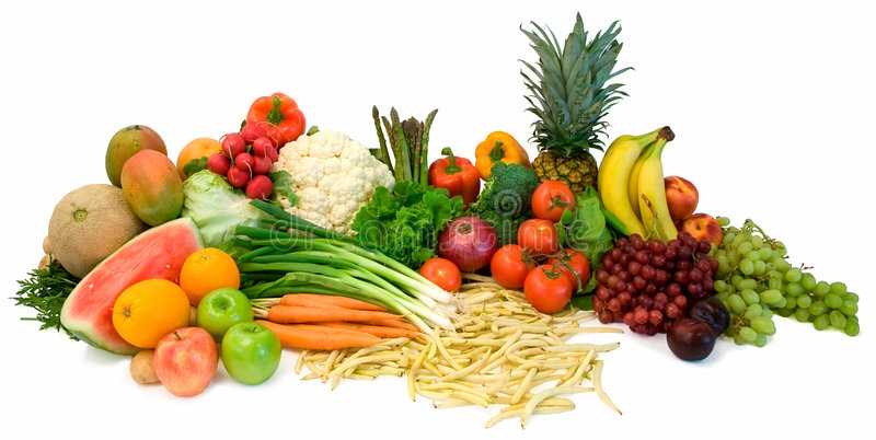 Veggies and Fruits royalty free stock photo