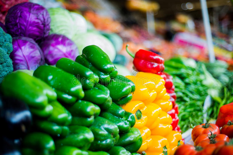 Veggies at the Market stock images
