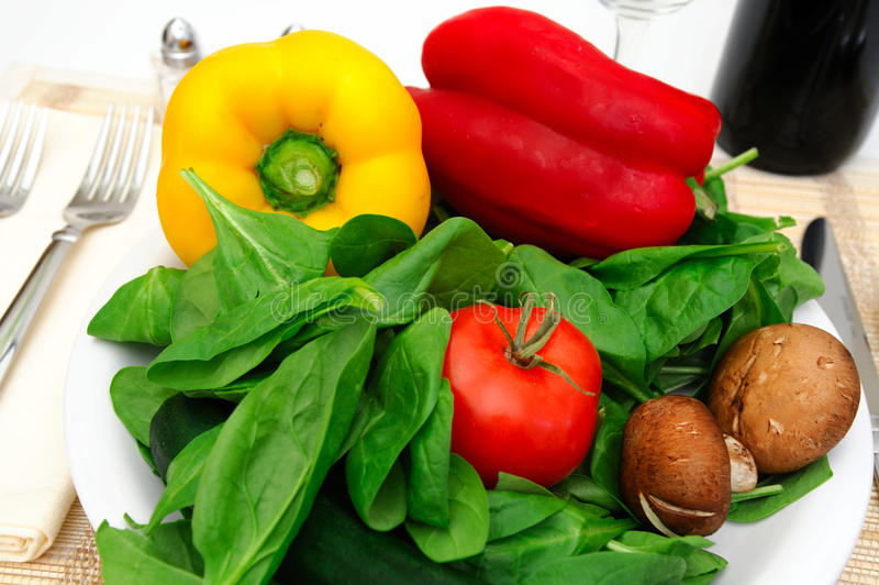 Download Veggies For A Salad stock photo. Image of spinach, napkin - 12452026