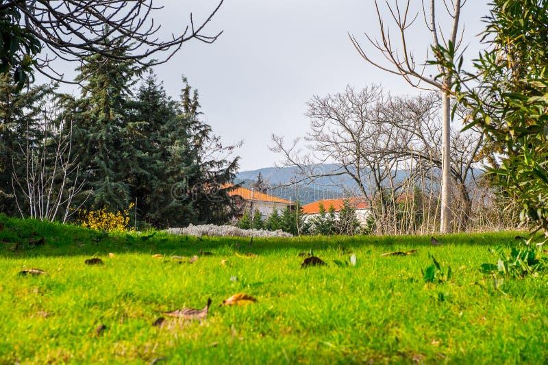 Vegina, miasteczko w północnym Grecja fotografia stock