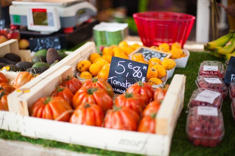 Vegtables in Nice Frankrijk wordt verkocht dat royalty-vrije stock afbeeldingen