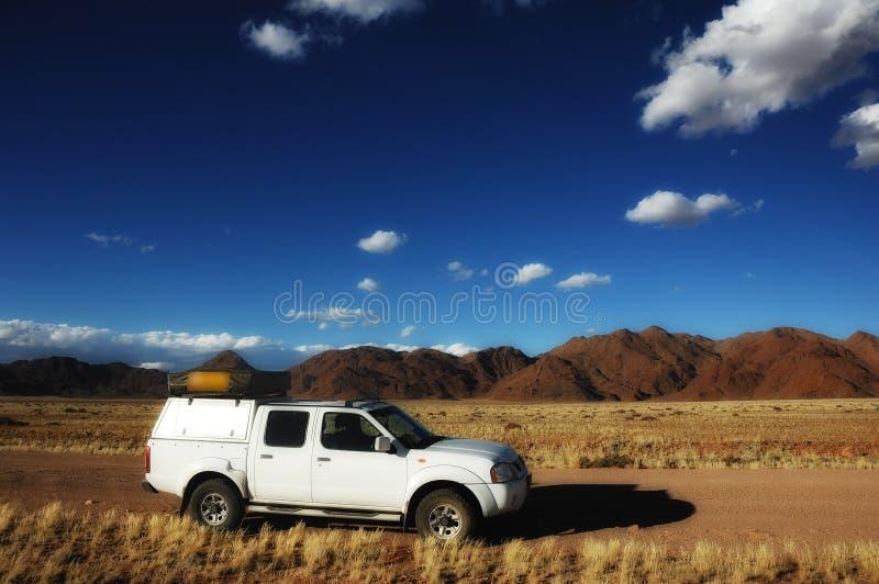 vehículo 4x4 en Namibia imagen de archivo