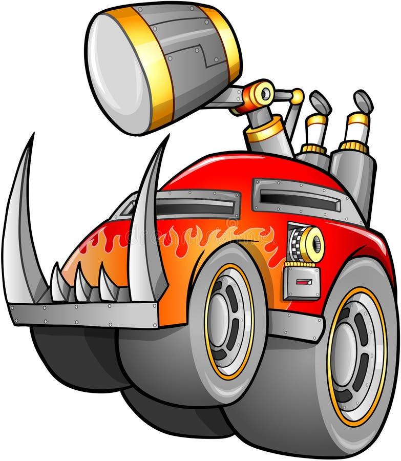 Vehículo apocalíptico del coche ilustración del vector