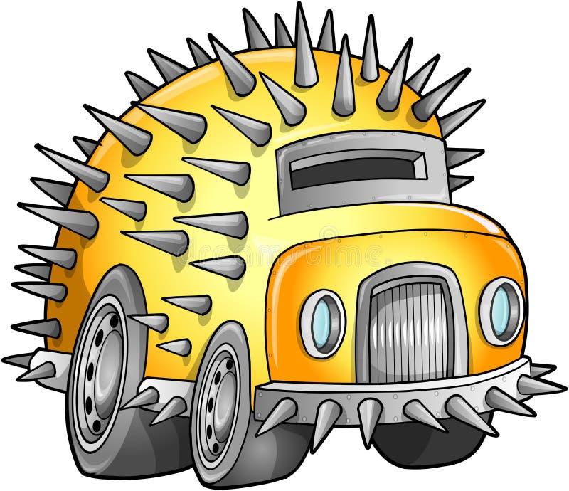 Vehículo apocalíptico del coche stock de ilustración