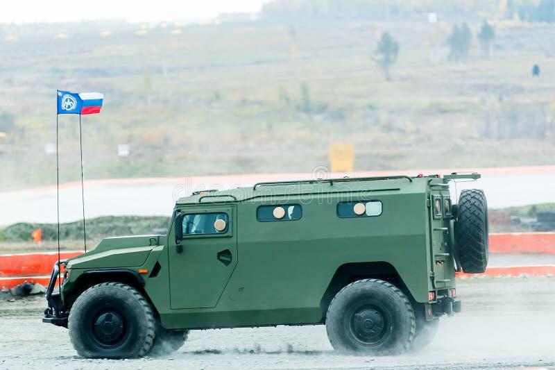 Vehículo blindado del tigre-m VIPS-233115 Rusia fotografía de archivo libre de regalías