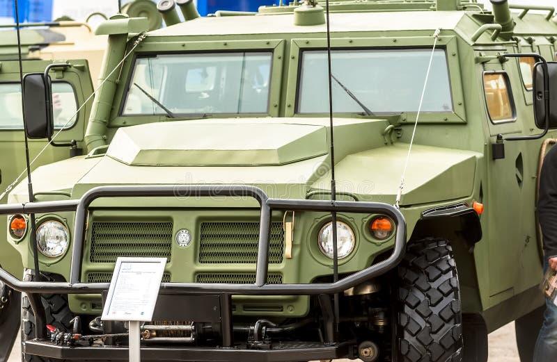 Vehículo blindado del tigre-m VPK-233115 Rusia imágenes de archivo libres de regalías