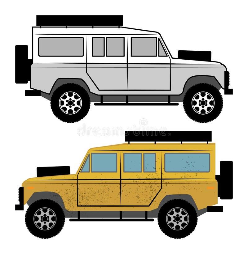 Vehículo campo a través stock de ilustración