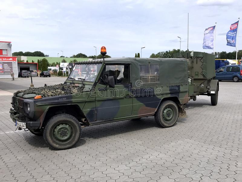 Vehículo campo a través militar alemán de Mercedes Benz fotos de archivo libres de regalías
