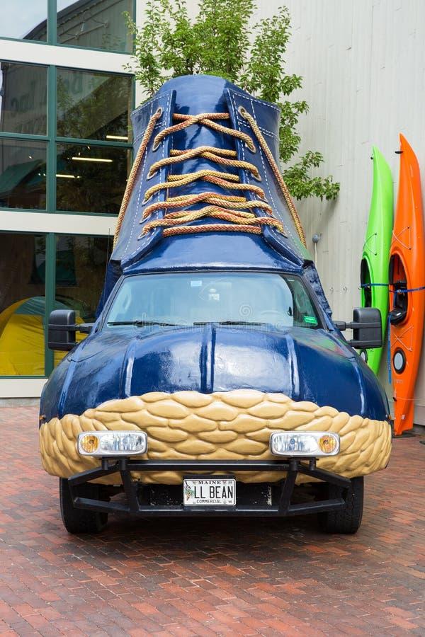 Vehículo de la bota de LL Bean imagen de archivo