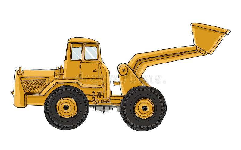 Vehículo de la construcción stock de ilustración