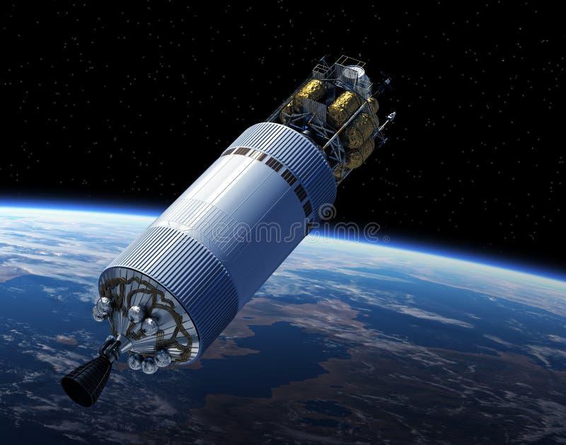 Vehículo de la exploración del equipo en espacio ilustración del vector