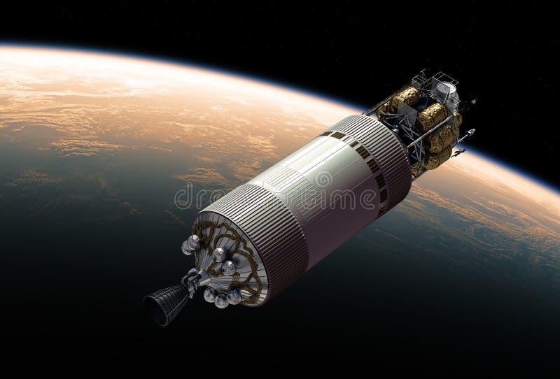 Vehículo de la exploración del equipo en espacio exterior ilustración del vector