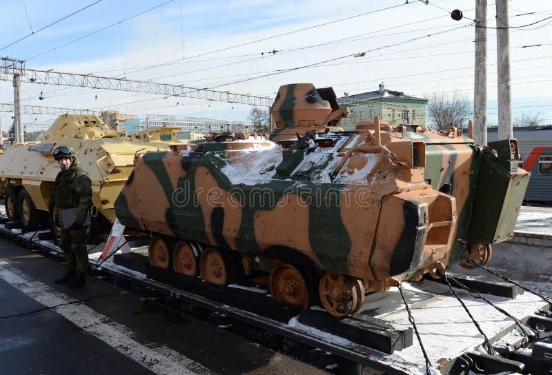 Vehículo de lucha ACV-15 de la infantería turca, capturado de terroristas en Siria fotografía de archivo libre de regalías