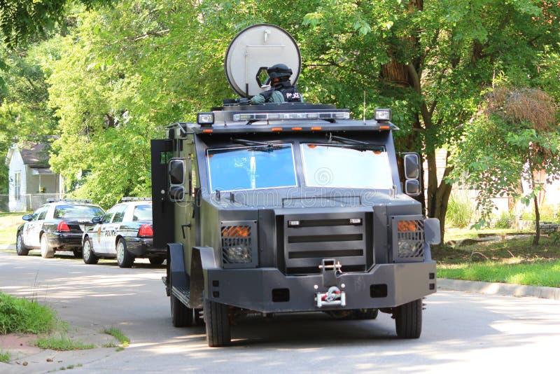 Vehículo de rescate acorazado de la policía del Topeka fotos de archivo libres de regalías