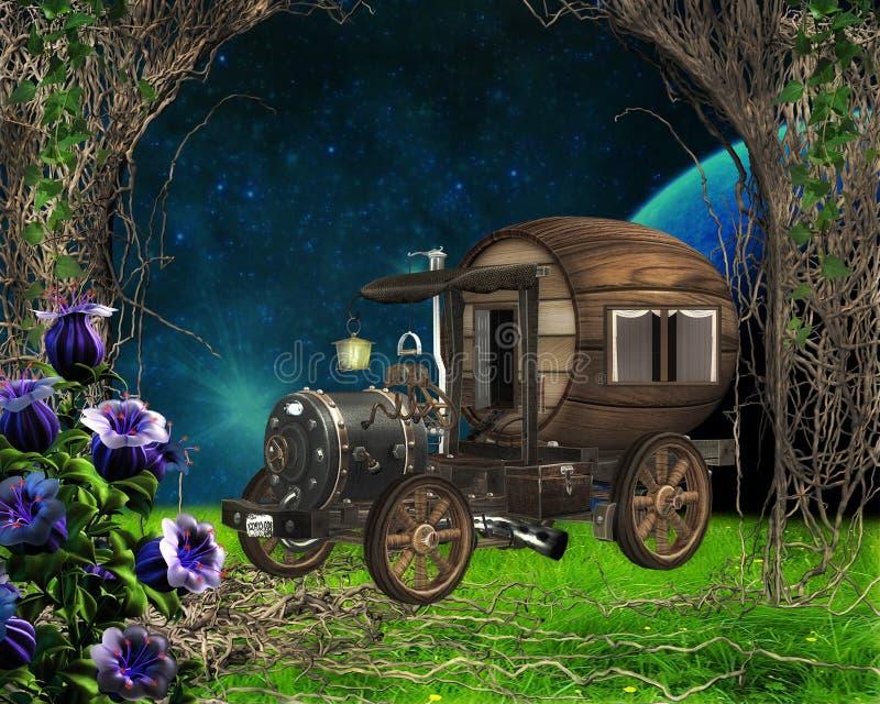 Vehículo de Steampunk ilustración del vector