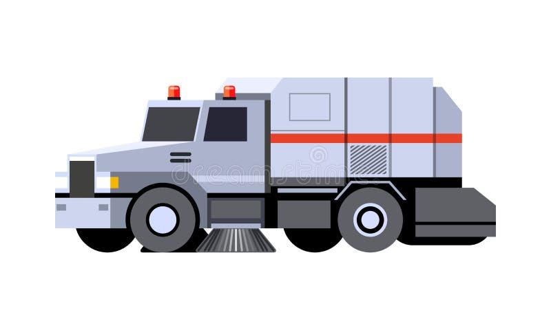 Vehículo del barrendero de calle stock de ilustración