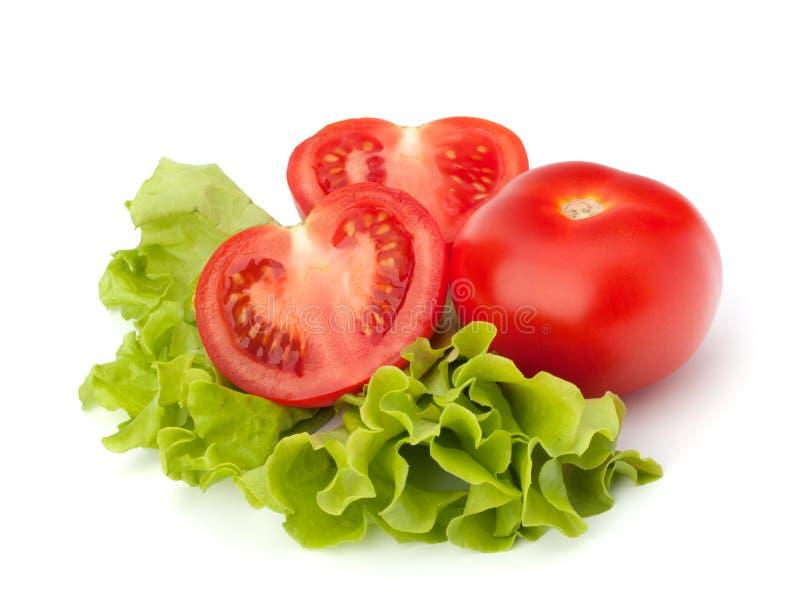 Vehículo del tomate y ensalada de la lechuga imagenes de archivo