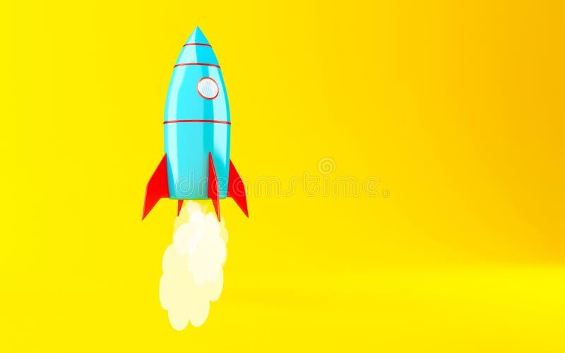vehículo espacial de 3d Rocket stock de ilustración