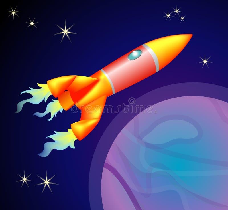 Vehículo espacial de Rocket stock de ilustración