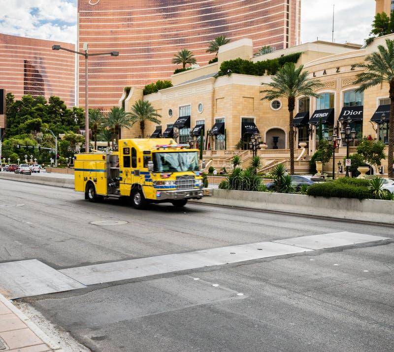 Vehículo Las Vegas Nevada de la emergencia imagenes de archivo