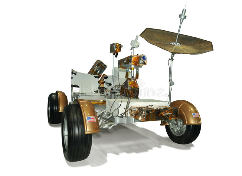 Vehículo lunar el vagar de Apolo 17 fotografía de archivo libre de regalías