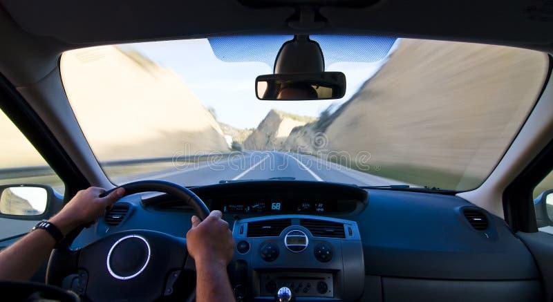 Vehículo móvil interior imagenes de archivo