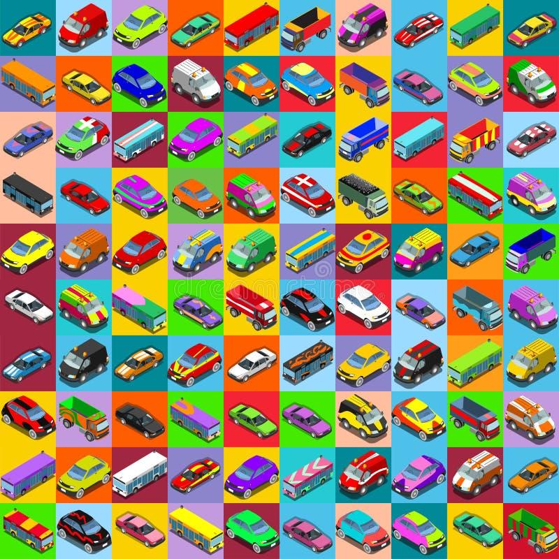 Vehículo plano 01 de los coches 2 isométrico libre illustration