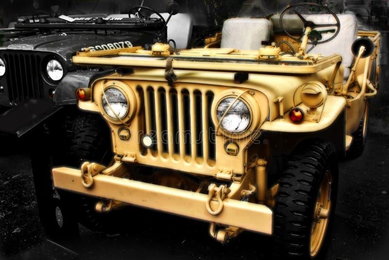 Vehículo viejo cobrable del jeep ww2 fotografía de archivo