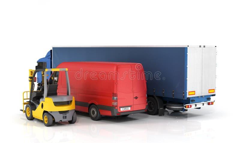 Vehículos de entrega foto de archivo libre de regalías